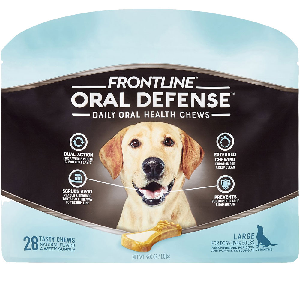 Frontline Oral Defense Daily Oral Health Chews for Large Dogs - Over 50 lbs (28 count) im test