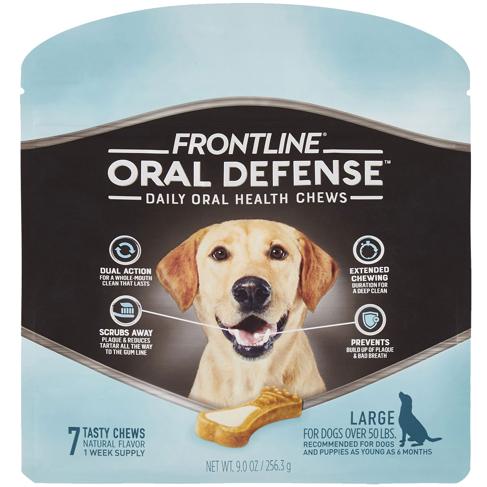 Frontline Oral Defense Daily Oral Health Chews for Large Dogs - Over 50 lbs (7 count) im test