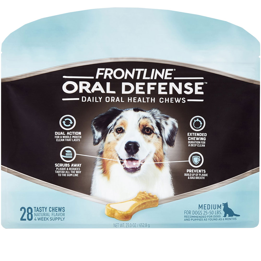 Frontline Oral Defense Daily Oral Health Chews for Medium Dogs - 25-50 lbs (28 count) im test