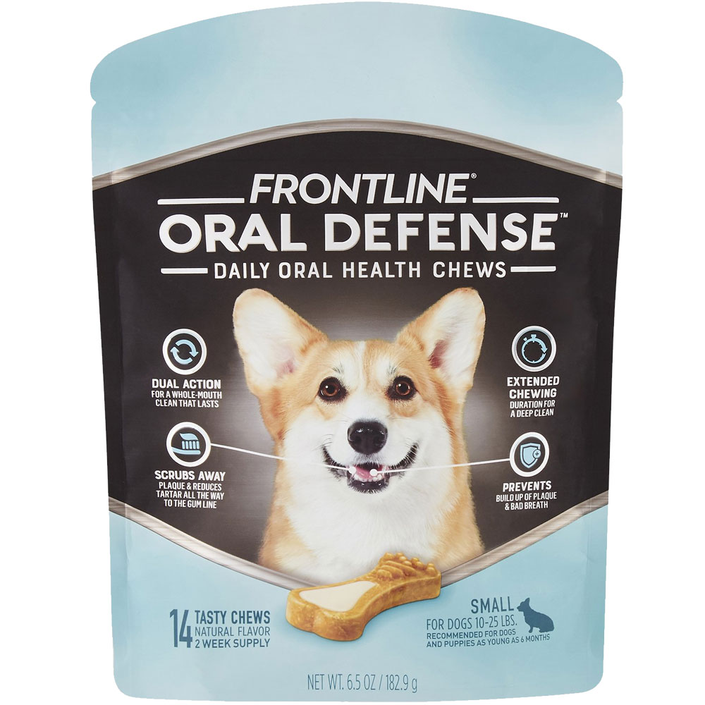 Frontline Oral Defense Daily Oral Health Chews for Small Dogs - 10-25 lbs (14 count) im test