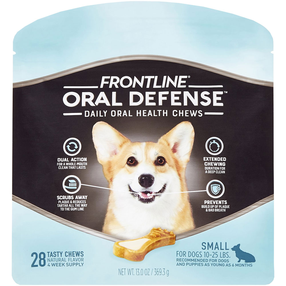 Frontline Oral Defense Daily Oral Health Chews for Small Dogs - 10-25 lbs (28 count) im test
