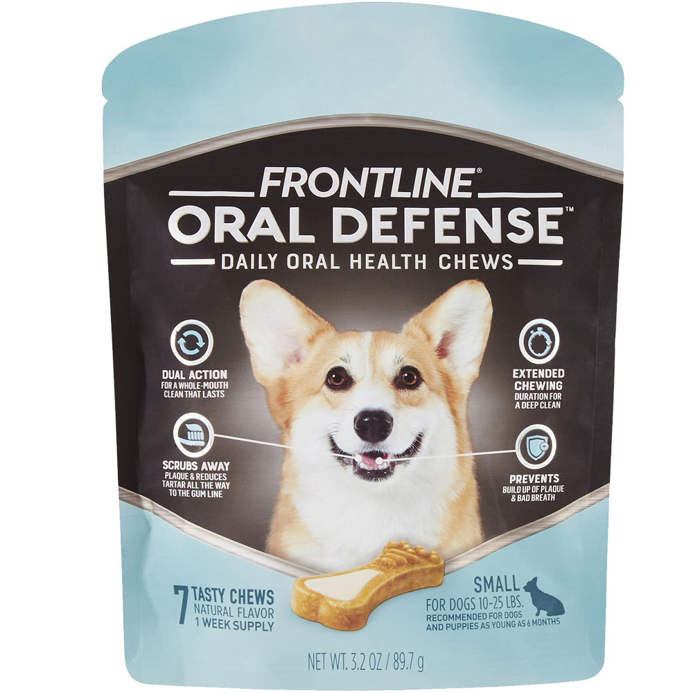 Frontline Oral Defense Daily Oral Health Chews for Small Dogs - 10-25 lbs (7 count) im test