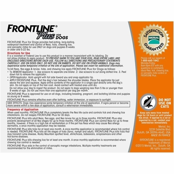 Frontline Plus For Dogs 0 22 Lbs Orange 3 Month
