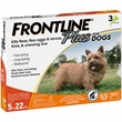 Frontline Plus for Dogs 0-22 lbs, 3 Month