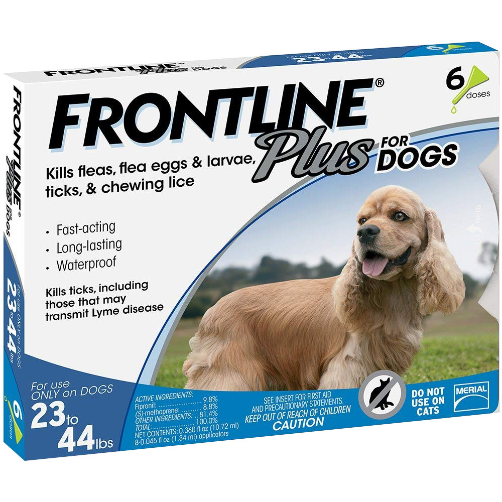 Frontline Plus for Dogs 23-44 lbs, 6 Month im test