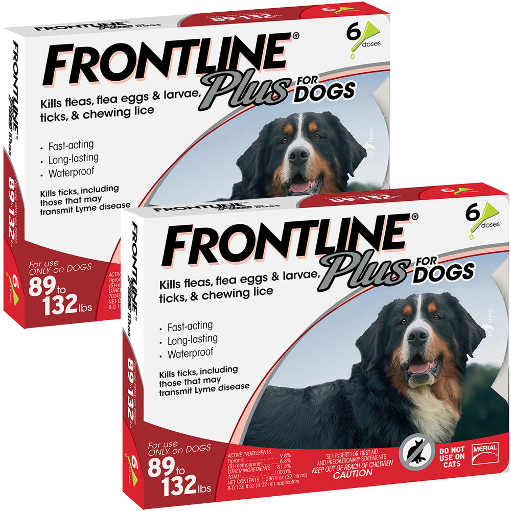 Frontline Plus for Dogs 89-132 lbs, 12 Month im test