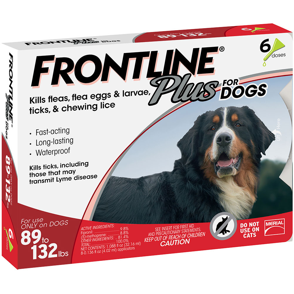Frontline Plus for Dogs 89-132 lbs, 6 Month im test