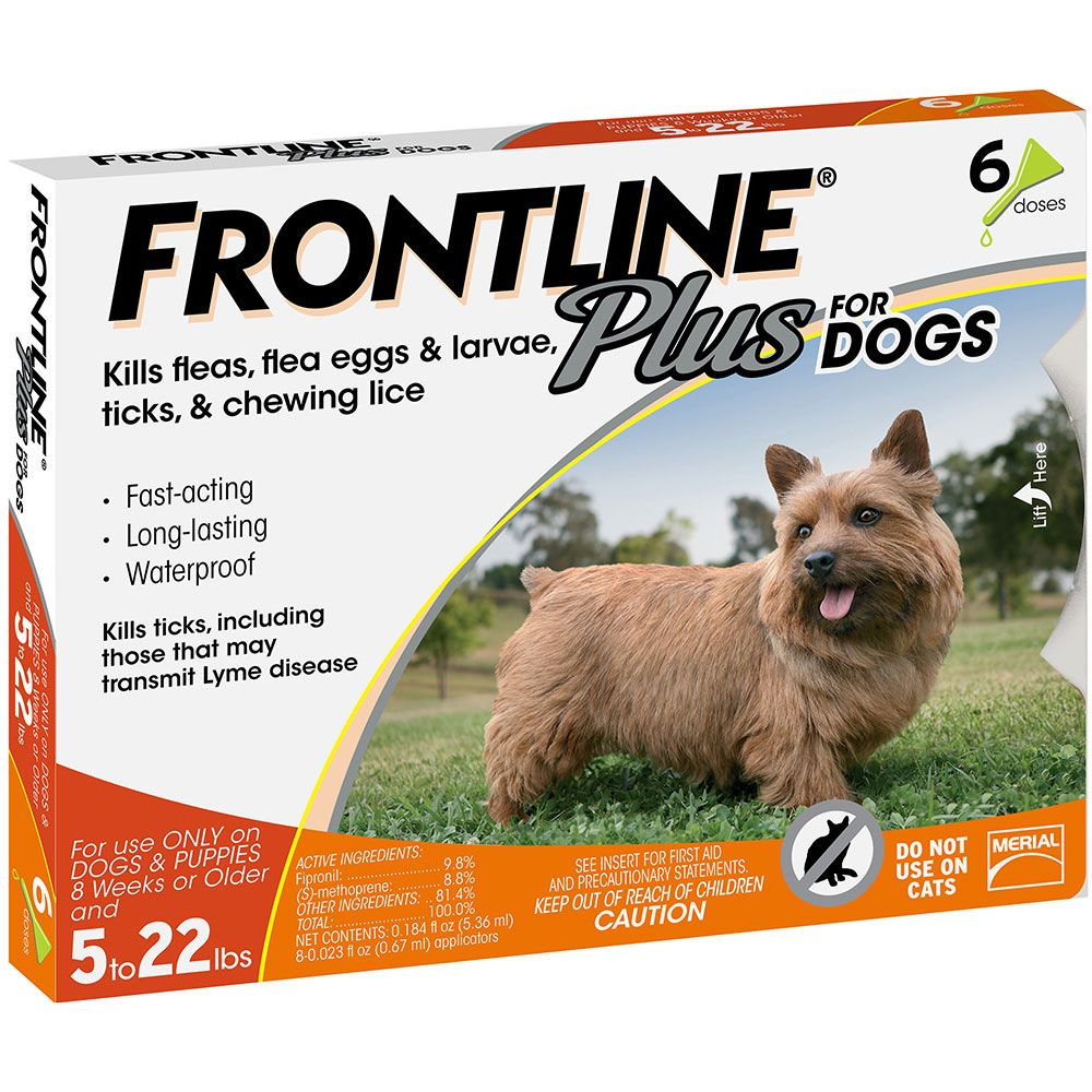 Frontline Plus for Dogs 0-22 lbs, 6 Month im test