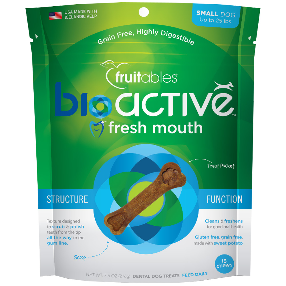 Fruitables BioActive Fresh Mouth Dental Chews - Small (15 Count) im test