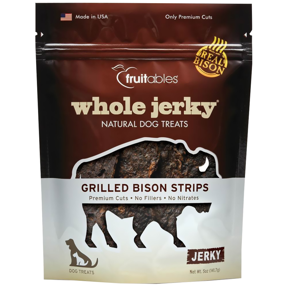 Fruitables Whole Jerky Dog Treats - Grilled Bison Strips (5 oz) im test
