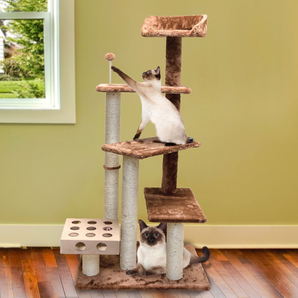 FURHAVEN-CAT-FURNITURE-PLAY-STAIRS-BLUE