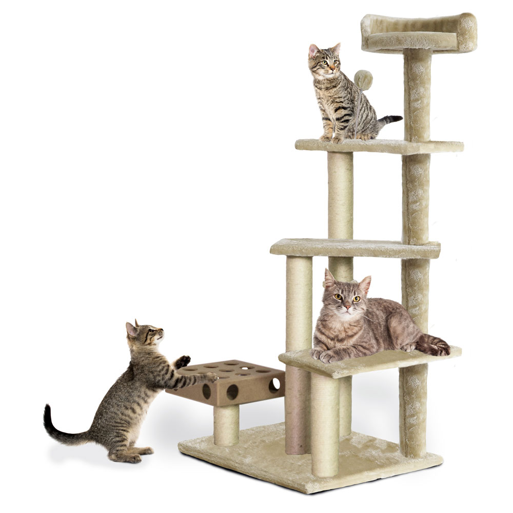 FURHAVEN-CAT-FURNITURE-PLAY-STAIRS-CREAM