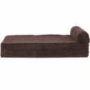 FurHaven Cooling Gel Top Chaise Lounge Sofa-Style Pet Bed - Dark Espresso (Medium)