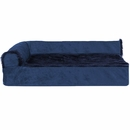 FurHaven Cooling Gel Top Chaise Lounge Sofa-Style Pet Bed - Deep Sapphire (Large)