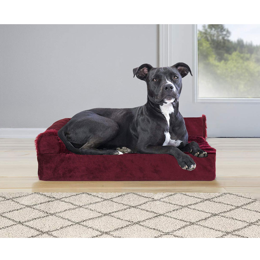 FURHAVEN-COOLING-GEL-CHAISE-LOUNGE-BED-RED-MEDIUM