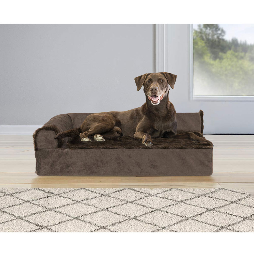 FURHAVEN-COOLING-GEL-CHAISE-LOUNGE-BED-BROWN-LARGE