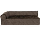 FurHaven Cooling Gel Top Chaise Lounge Sofa-Style Pet Bed - Sable Brown (Medium)