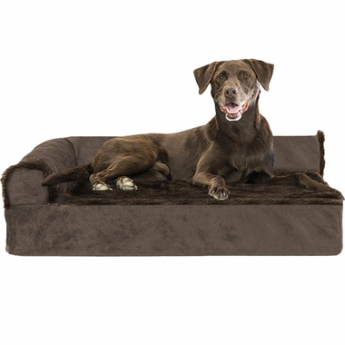 FURHAVEN-COOLING-GEL-CHAISE-LOUNGE-BED-BROWN-SMALL