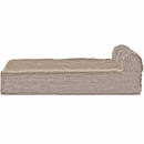 FurHaven Cooling Gel Top Chaise Lounge Sofa-Style Pet Bed - Sandstone (Medium)