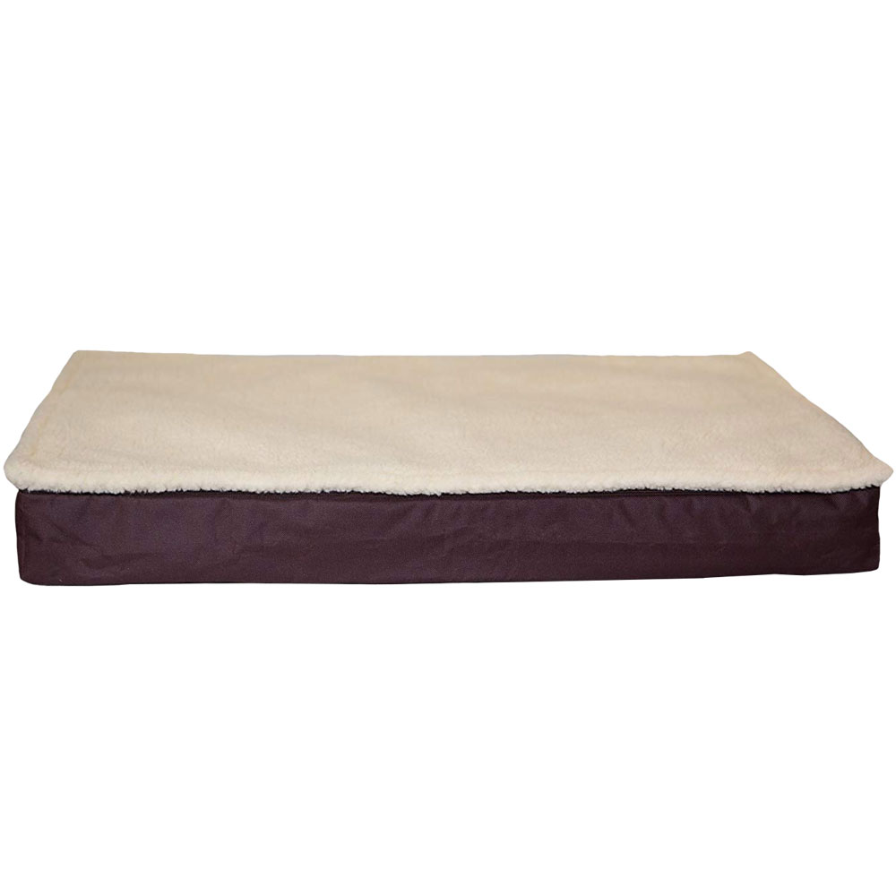Image of FurHaven Deluxe Outdoor Convertible Orthopedic Pet Bed - Espresso (Large)