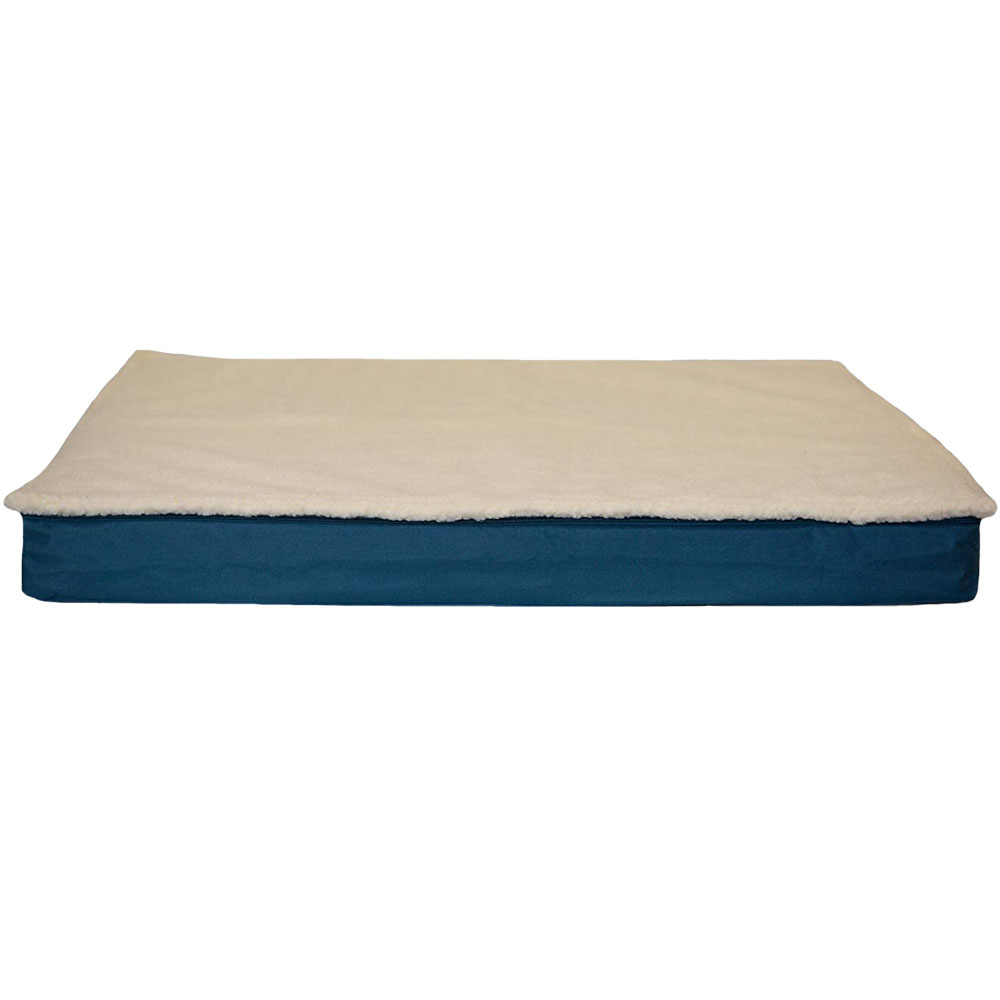 Image of FurHaven Deluxe Outdoor Convertible Orthopedic Pet Bed - Marine Blue (Large)