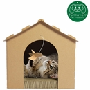 Furhaven Gingerbread House Corrugated Scratcher - Plain with Gift Box and Catnip