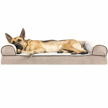 FURHAVEN-MEMORY-TOP-BED-CHENILLE-CREAM-LARGE
