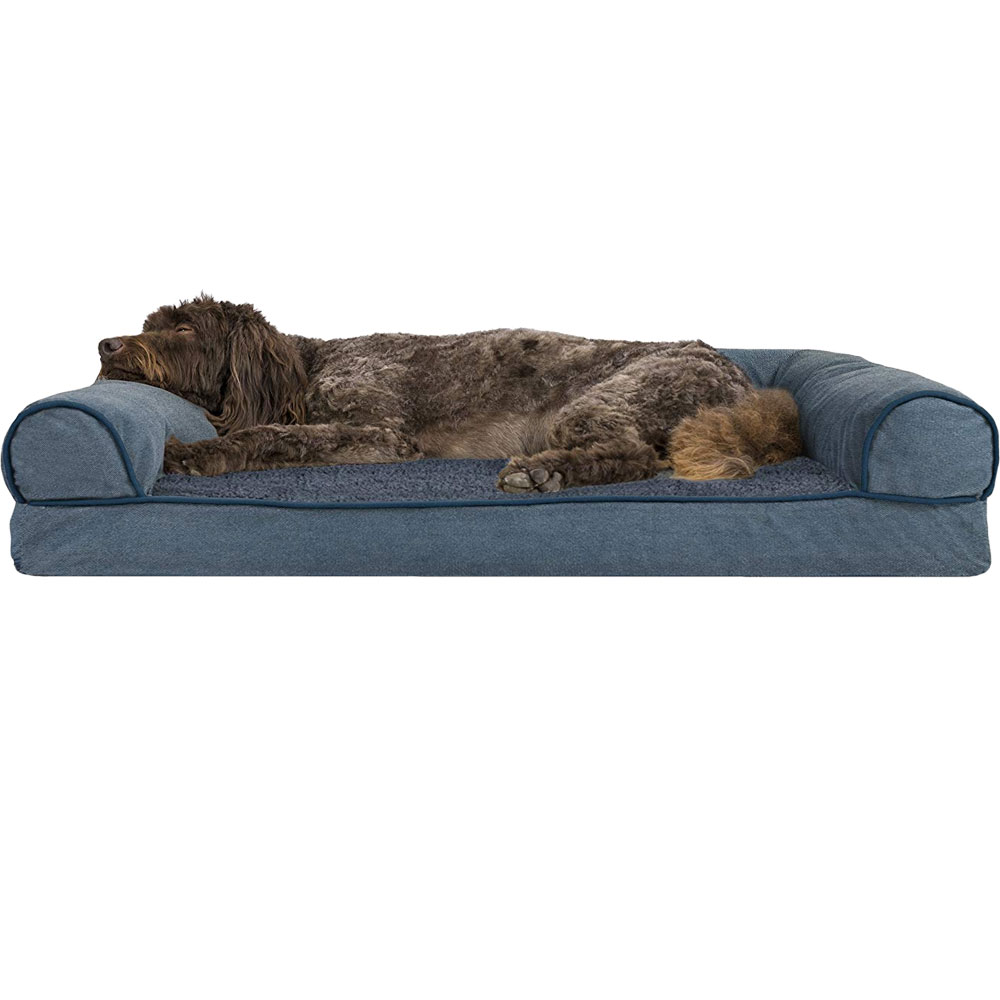 FURHAVEN-MEMORY-TOP-BED-CHENILLE-ORION-BLUE-LARGE