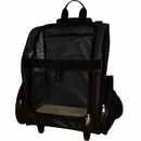 FurHaven Pet Backpack-Roller Carrier - Black