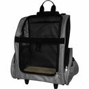FurHaven Pet Backpack-Roller Carrier - Gray