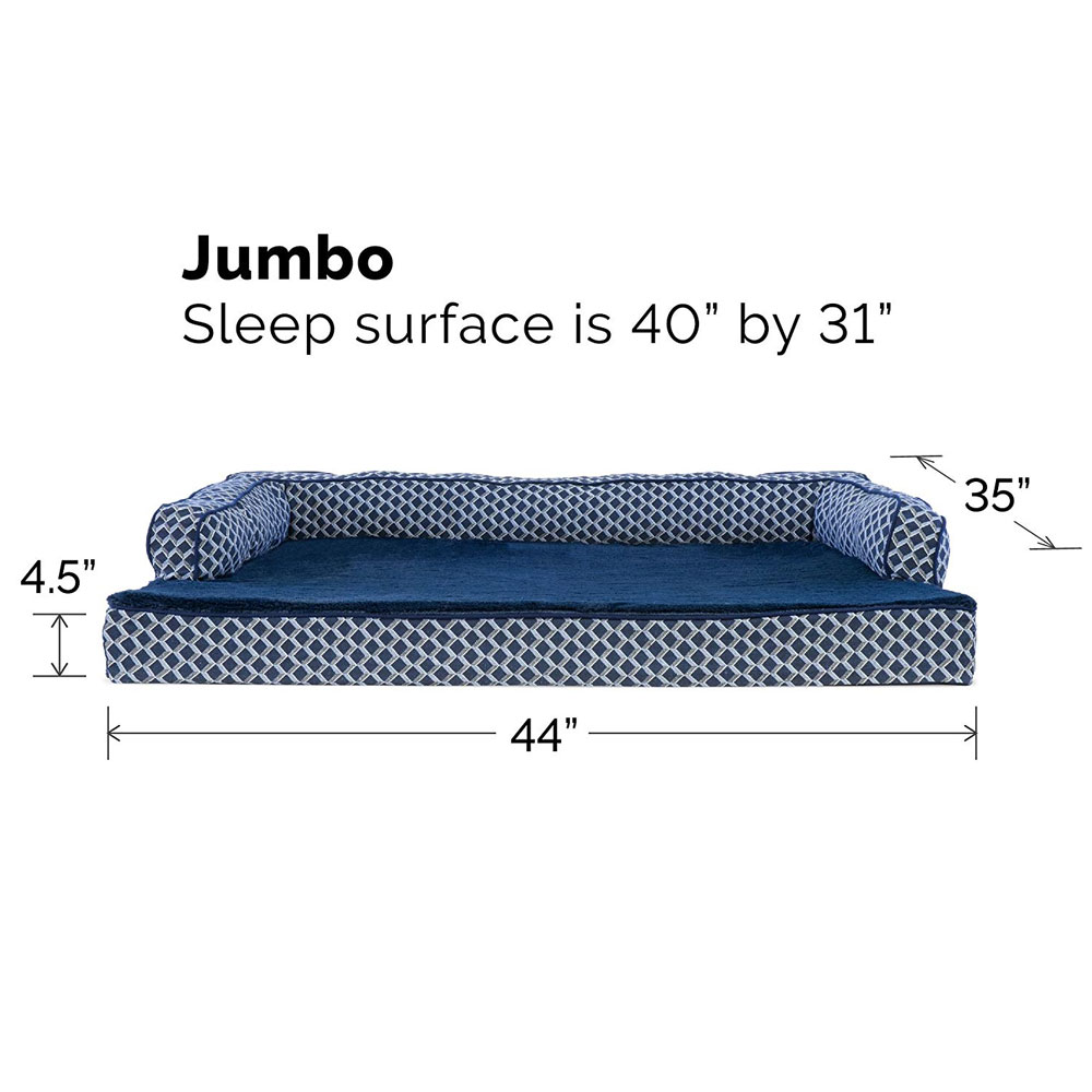 FURHAVEN-COMFY-COUCH-ORTHOPEDIC-BED-BLUE-JUMBO