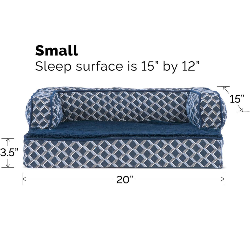 FURHAVEN-COMFY-COUCH-ORTHOPEDIC-BED-BLUE-LARGE