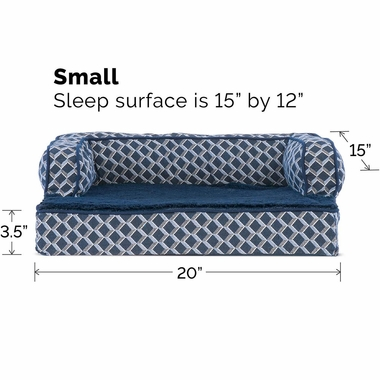 FURHAVEN-COMFY-COUCH-ORTHOPEDIC-BED-BLUE-SMALL
