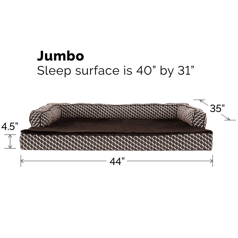 FURHAVEN-COMFY-COUCH-ORTHOPEDIC-BED-BROWN-JUMBO