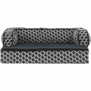 FurHaven Plush & Decor Comfy Couch Orthopedic Sofa-Style Pet Bed - Diamond Gray (Jumbo)