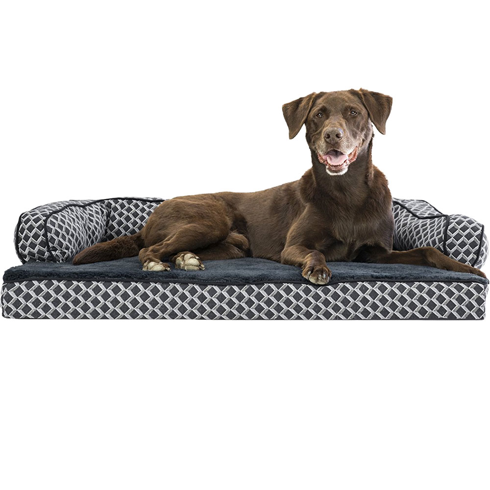 FURHAVEN-COMFY-COUCH-ORTHOPEDIC-BED-GRAY-LARGE