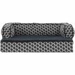 FurHaven Plush & Decor Comfy Couch Orthopedic Sofa-Style Pet Bed - Diamond Gray (Medium)