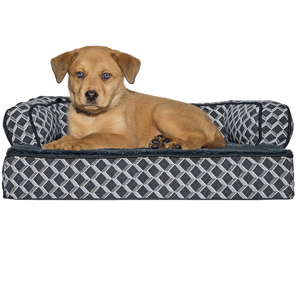 Furhaven Plush Amp Decor Comfy Couch Orthopedic Sofa Style