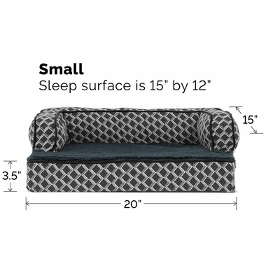 FURHAVEN-COMFY-COUCH-ORTHOPEDIC-BED-GRAY-SMALL