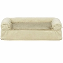 FurHaven Plush & Suede Orthopedic Sofa Pet Bed - Clay (Small)