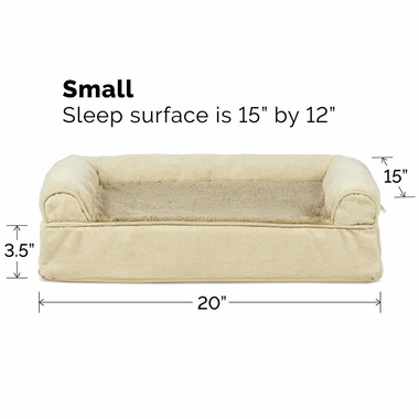 FURHAVEN-PLUSH-SUEDE-ORTHOPEDIC-BED-CLAY-SMALL