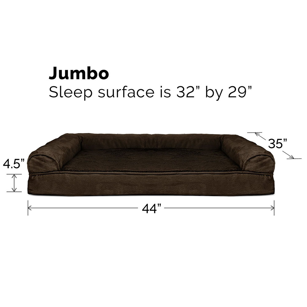 FURHAVEN-PLUSH-SUEDE-ORTHOPEDIC-BED-ESPRESSO-JUMBO