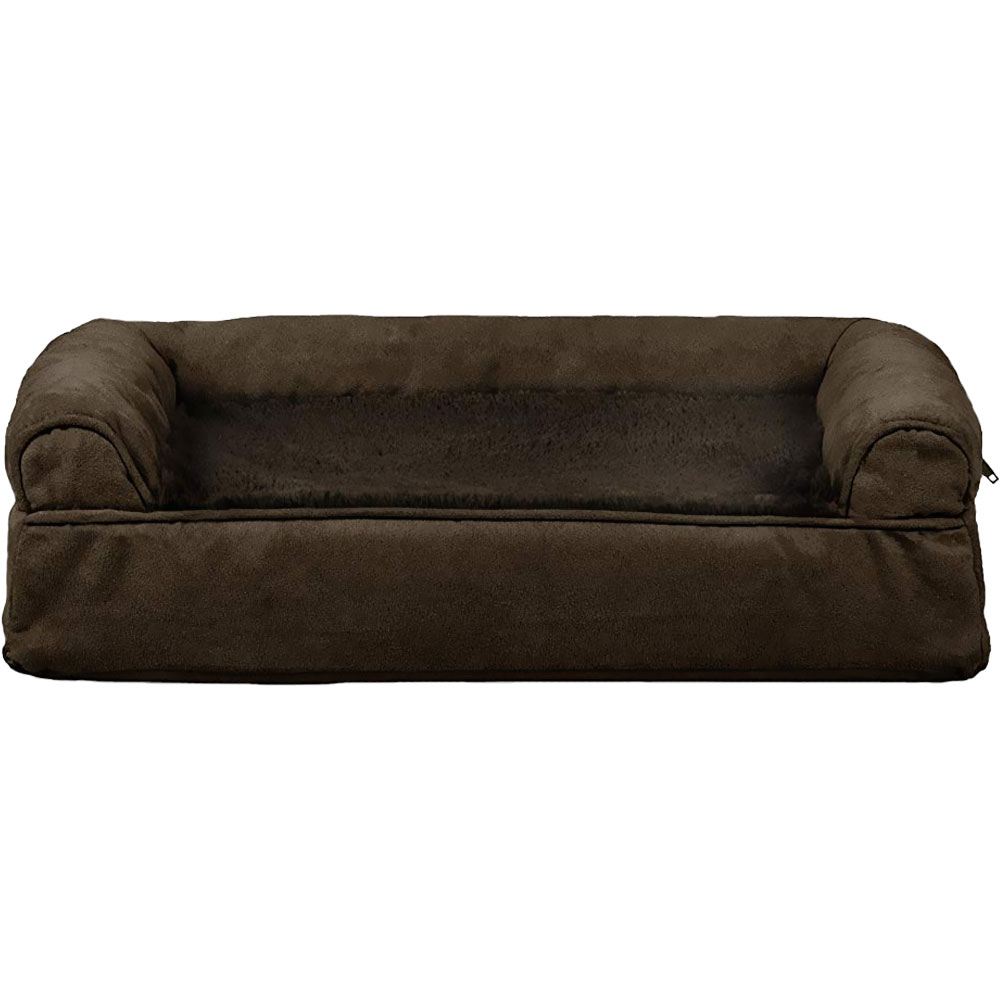 FURHAVEN-PLUSH-SUEDE-ORTHOPEDIC-BED-ESPRESSO-SMALL