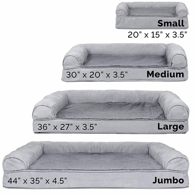 FURHAVEN-PLUSH-SUEDE-ORTHOPEDIC-BED-GRAY-JUMBO