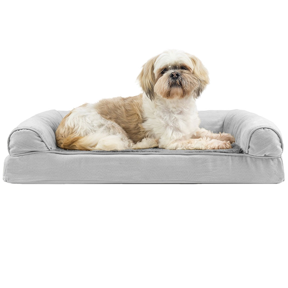 FURHAVEN-PLUSH-SUEDE-ORTHOPEDIC-BED-GRAY-MEDIUM