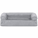 FurHaven Plush & Suede Orthopedic Sofa Pet Bed - Gray (Small)