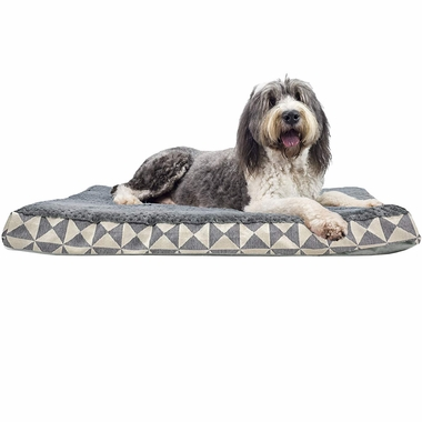 FURHAVEN-KILIM-ORTHOPEDIC-BED-GRAY-LARGE