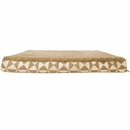 FurHaven Plush Top Kilim Deluxe Orthopedic Pet Bed - Pyramid Latte (Medium)