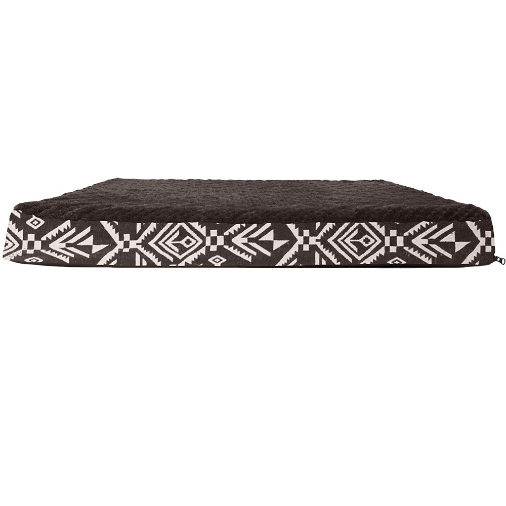 FURHAVEN-KILIM-ORTHOPEDIC-BED-ESPRESSO-LARGE
