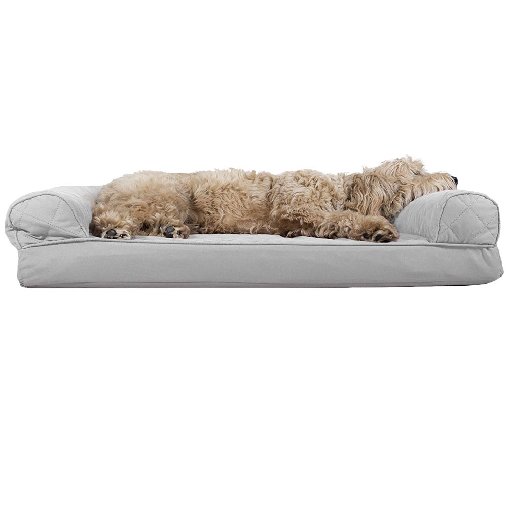 FURHAVEN-QUILTED-ORTHOPEDIC-BED-GRAY-JUMBO